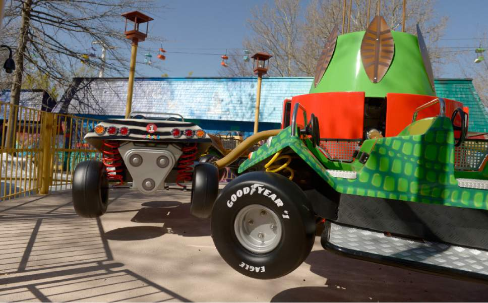 Leah Hogsten  |  The Salt Lake Tribune  The Ruka Safari ride is one of two new ride at the park's Kiddie Land to be unveiled this summer.