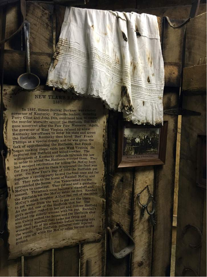 This undated photo provided by Bill Richardson shows a display at the Hatfield McCoy Country Museum & Museum showcases relics from Hatfield u0026 McCoy feud - The Salt Lake ...