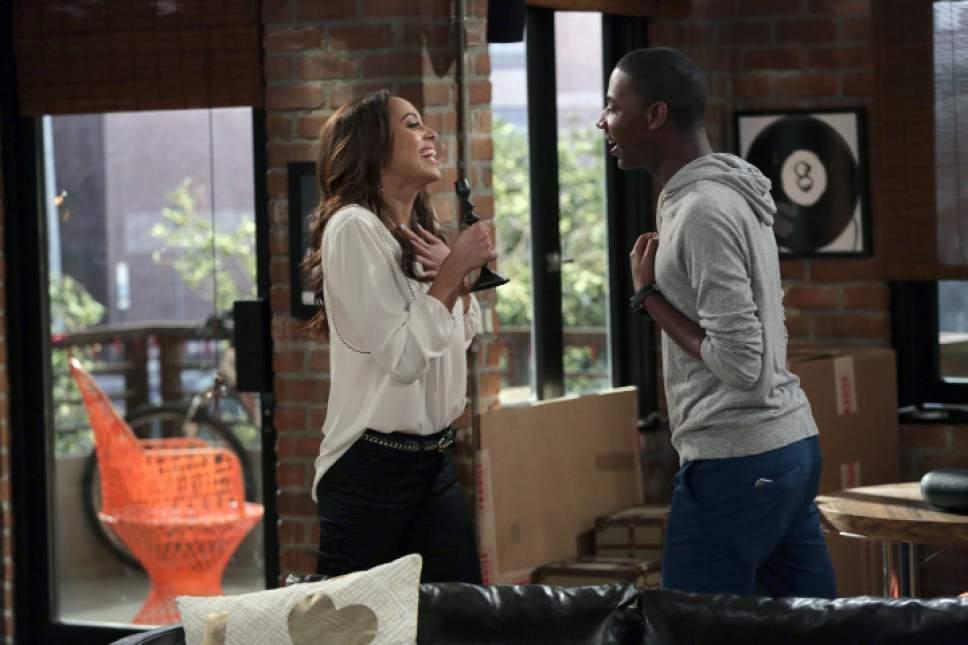 "Amber West as Maxine and Jerrod Carmichael as Jerrod in ""The Carmichael Show."" Francisco Roman  |  NBC"