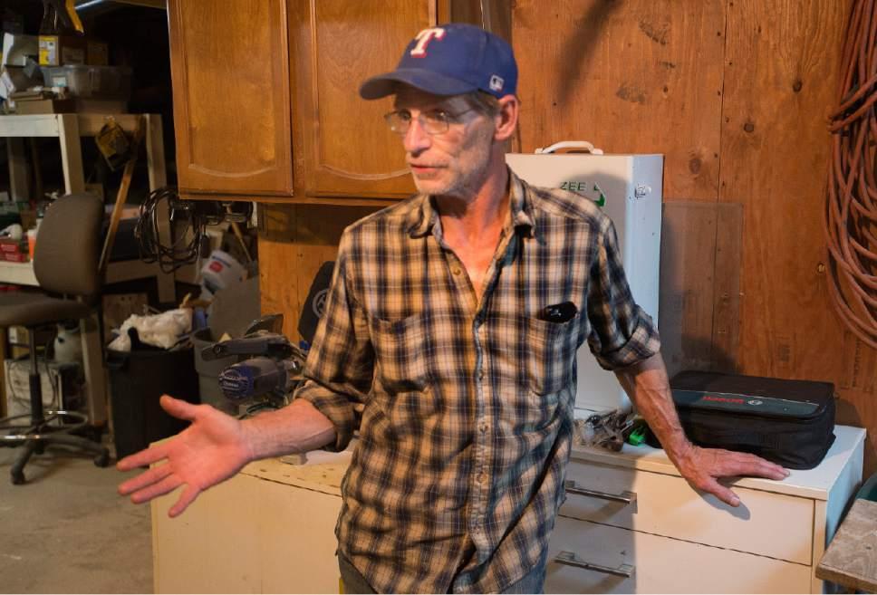 Rick Egan  |  The Salt Lake Tribune  Tracey Miller, maintenance supervisor for the HomeInn Hotel, is also a resident of the hotel.  Thursday, April 13, 2017.