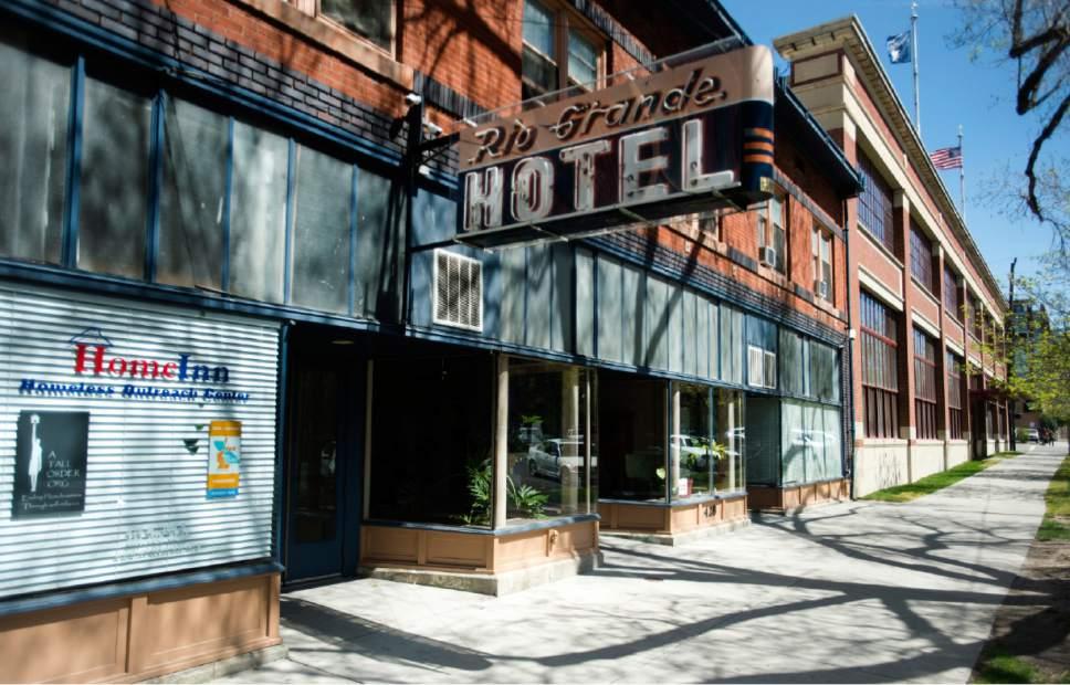 Rick Egan  |  The Salt Lake Tribune  The HomeInn Hotel on 300 west in Salt Lake City.  Thursday, April 13, 2017.