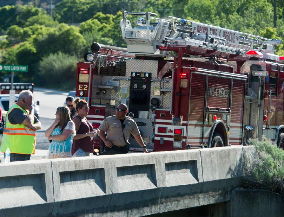 Rick Egan  |  The Salt Lake Tribune  Volunteers and rescue workers search for a 4-year-old girl who was swept down the Provo River near the mouth of Provo Canyon, Monday, May 29, 2017.