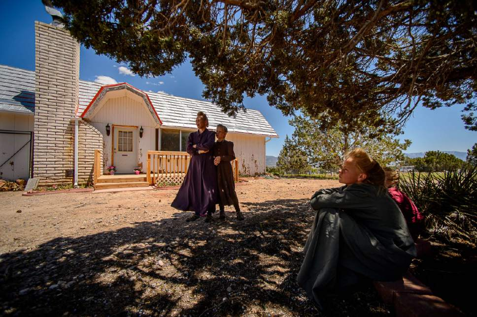 Trent Nelson  |  The Salt Lake Tribune LeAnne Johnson and her children relocated to a Cedar City home after, they say, being evicted from UEP Trust homes in Hildale three times.