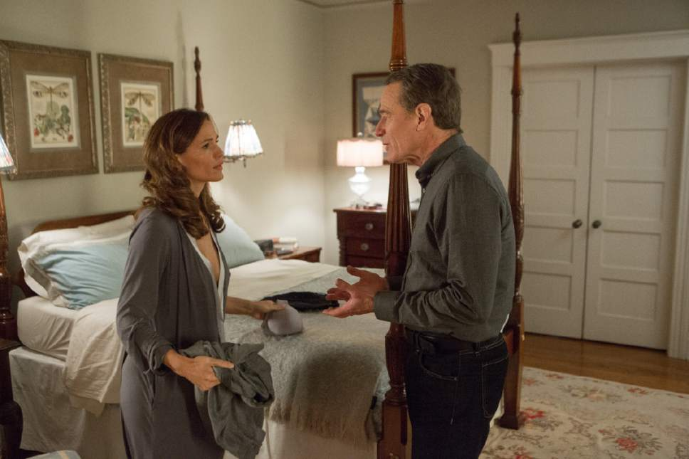 "Gilles Mingasson  |  IFC Films   Howard Wakefield (Bryan Cranston, right) argues with his wife, Diana (Jennifer Garner), in the drama ""Wakefield."""