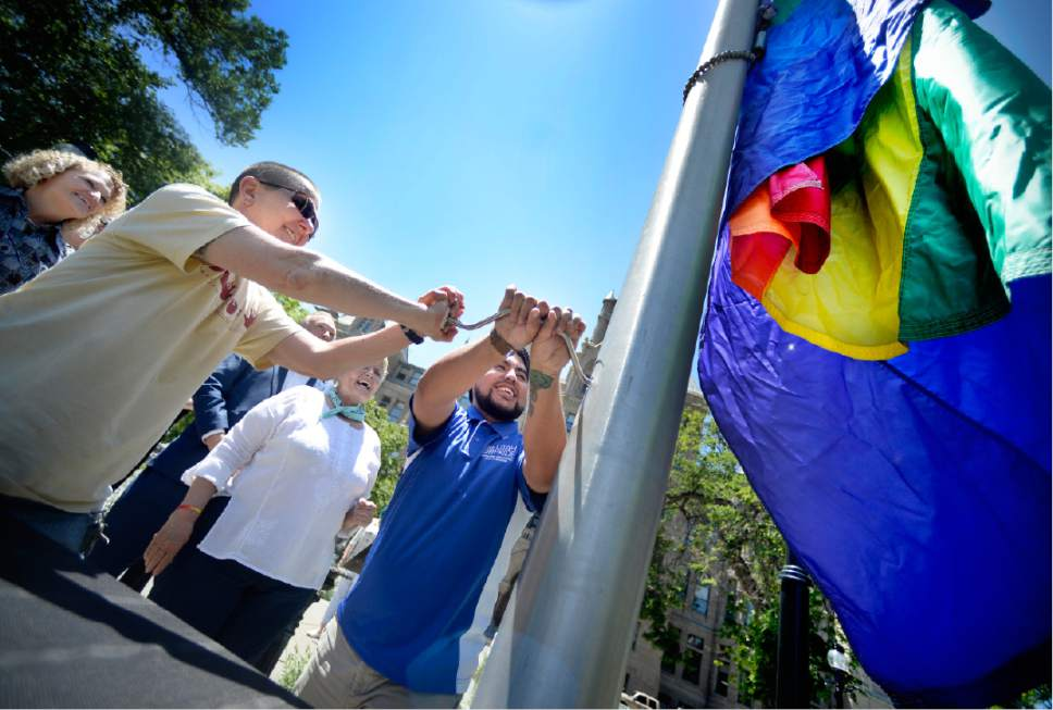Utah Pride Festival Launches With Raising Of Rainbow Flag At Salt Lake City Hall The Salt Lake