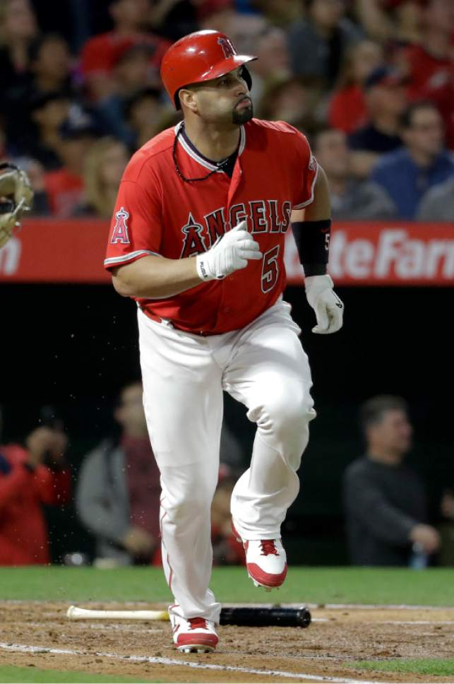 pujols albert angels approaches hrs column anyone care does baseball anaheim angeles los