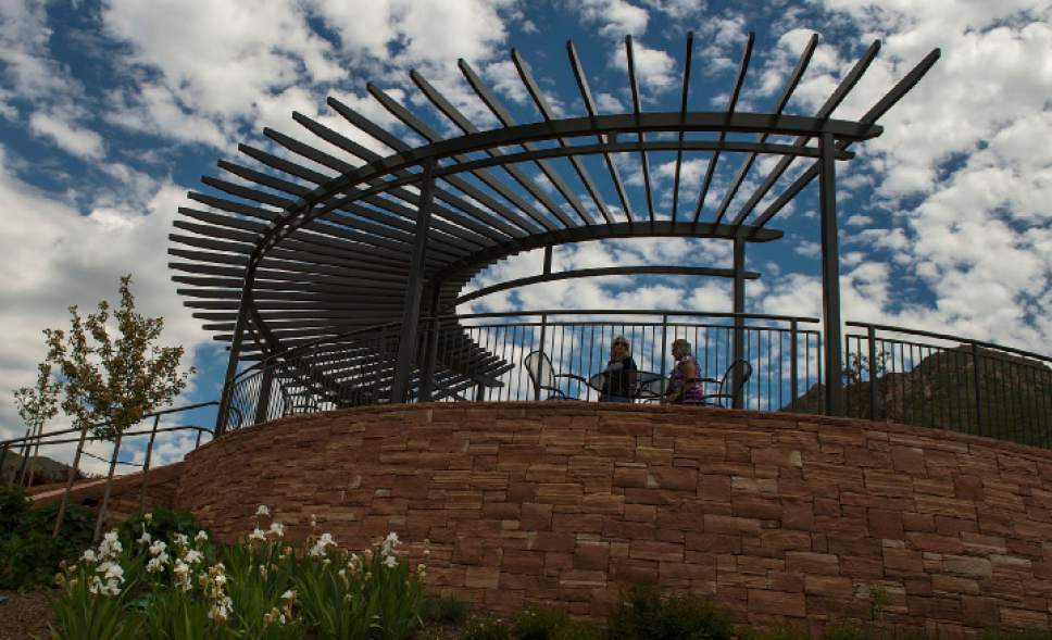 Leah Hogsten  |  The Salt Lake Tribune Red Butte Garden's new Water Conservation Garden in Salt Lake City demonstrates that beautiful gardens do not require heavy applications of water.