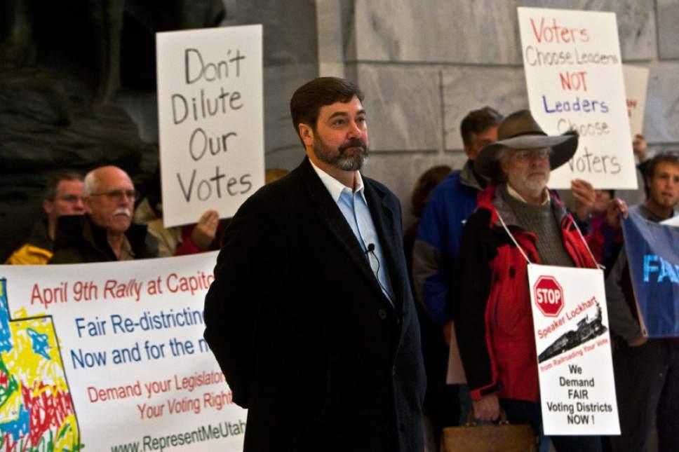 Chris Detrick | Tribune file photo   Rob Miller speaks during a rally at the Utah State Capitol Saturday April 9, 2011.