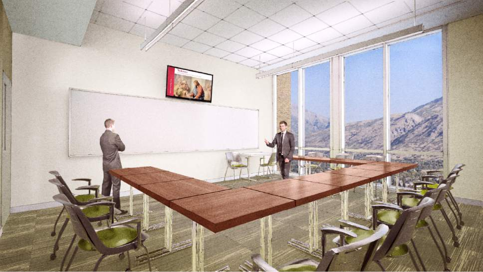 |  Courtesy LDS Church  Rendering of a classroom in the new buildings at the Missionary Training Center (MTC) in Provo, Utah.
