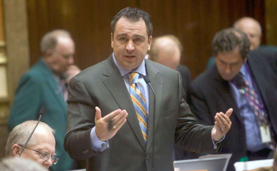 Tribune file photo Rep. Greg Hughes, R-Draper, is defending a law he sponsored aimed at disclosing donors whose political contributions are funnelled through nonprofit groups to disguise the source of funding. A conservative think tank says the law is onerous and unconstitutional.