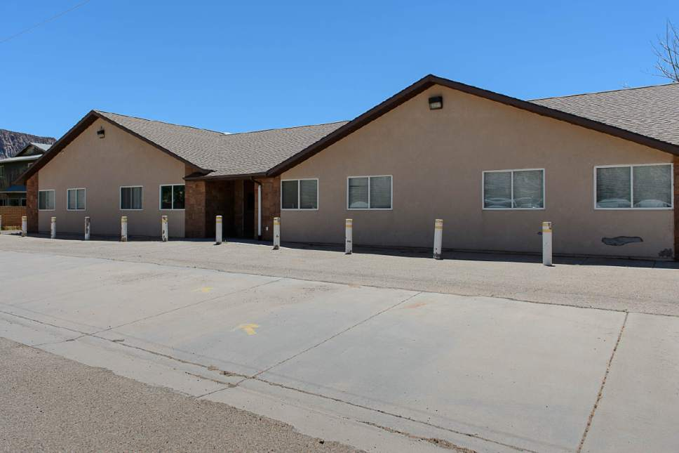 Trent Nelson     The Salt Lake Tribune This FLDS school in Colorado City, Ariz., is one of a few sites being considered for use as an LDS meetinghouse. The property is owned by the UEP land trust, which is seeking to dispose of its holdings. Tuesday May 23, 2017.
