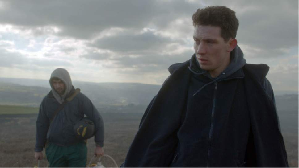 """   courtesy Sundance Institute  Johnny Saxby (Josh O'Connor, right), a young Yorkshire farmer, encounters a Romanian migrant worker (Alex Secareanu) in writer-director Francis Lee's """"God's Own Country,"""" which won the Directing Award for World Cinema Dramatic at the 2017 Sundance Film Festival. The movie returns to Utah, as the Centerpiece Screening of the 14th annual Damn These Heels Film Festival, July 14-16, 2017."""