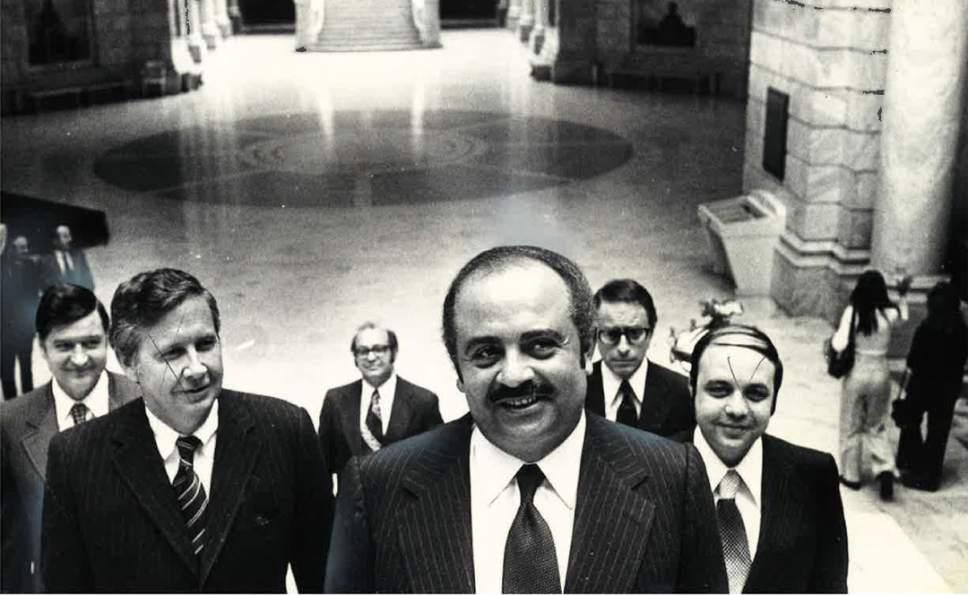 Tribune file photo Adnan Khashoggi is shown at the Utah Capitol in this photo from April 1975.
