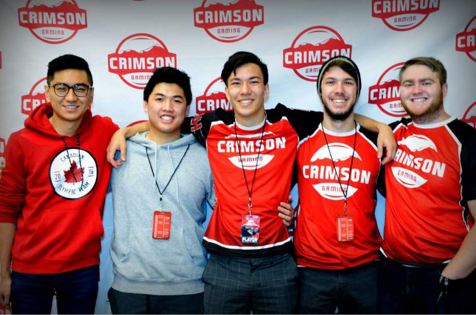 |  Courtesy University of Utah   The crowd at the University of Utah Crimson Gaming e-sports team played against Brigham Young University in November 2016.