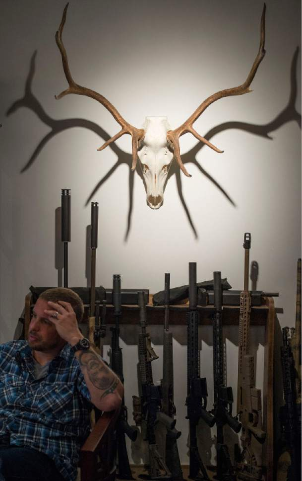 Leah Hogsten  |  The Salt Lake Tribune Silencerco president Jason Schauble talks about H.R.367, the Hearing Protection Act of 2017 and its effects on Silencerco. Silencerco is one of the country's largest manufacturers of silencer for guns of all kinds, Friday, May 28, 2017.
