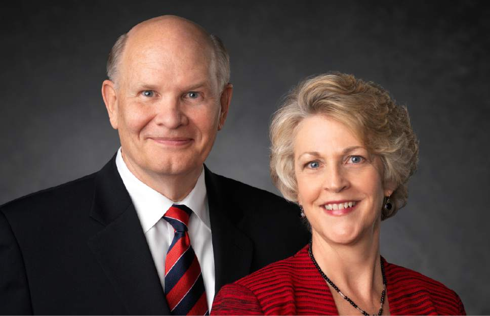 photo courtesy LDS Church Elder Dale G. Renlund of the Church's Quorum of the Twelve Apostles and his wife, Ruth Lybbert Renlund.