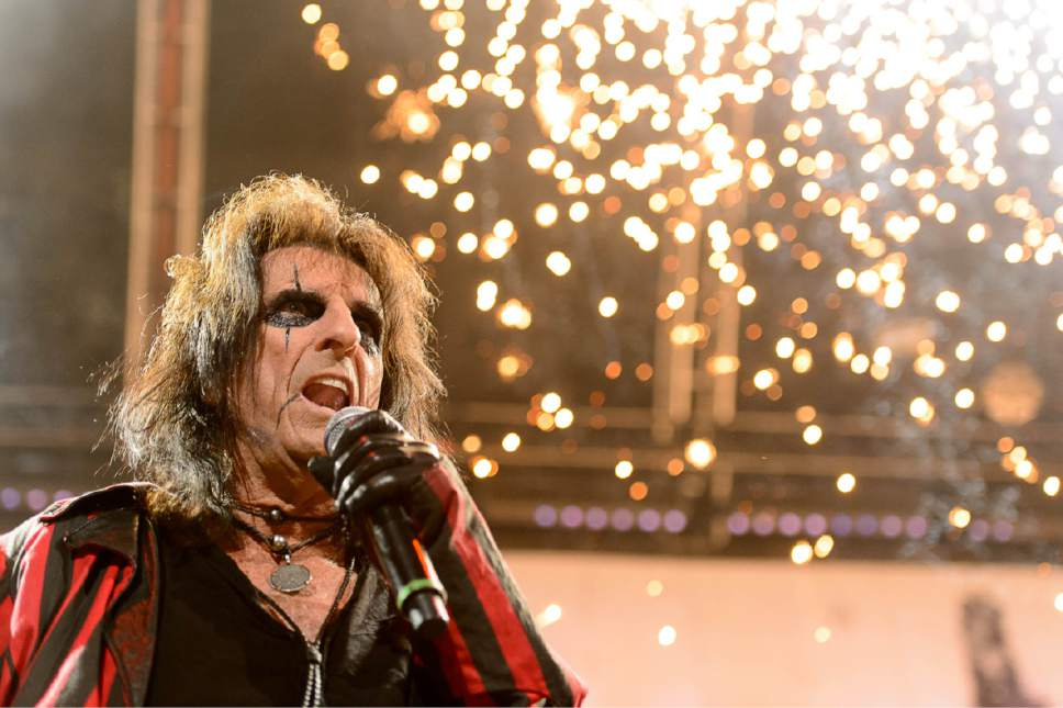 Trent Nelson     The Salt Lake Tribune Alice Cooper performs at EnergySolutions Arena in Salt Lake City, Wednesday July 29, 2015.