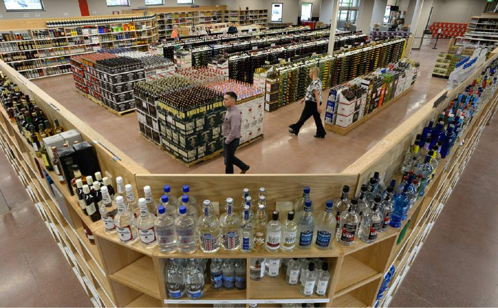 Francisco Kjolseth  |  The Salt Lake Tribune The new West Valley City state liquor store is one of three on the Wasatch Front testing out a new retail tracking system to improve product selection and availability.