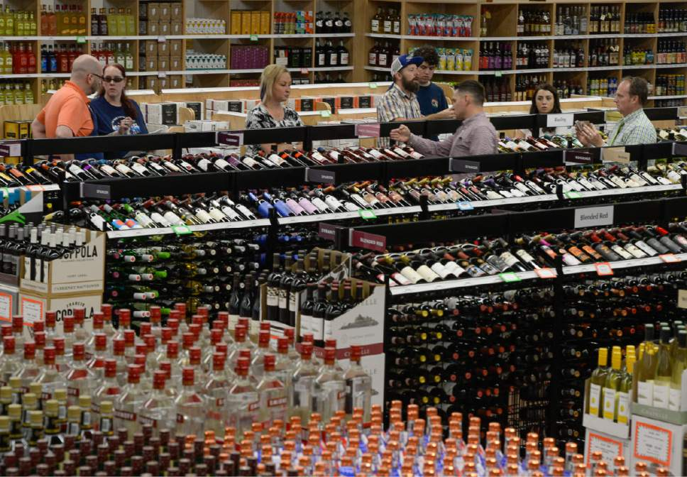 Francisco Kjolseth | The Salt Lake Tribune Utah's 45th liquor store, the first built in seven years is expected to open Tuesday in West Valley City as employees were busy putting the finishing touches on Monday, June 12, 2017. With13,500 square feet of space the new store will feature 40 percent beer, 40 percent liquor and 20 percent wine.