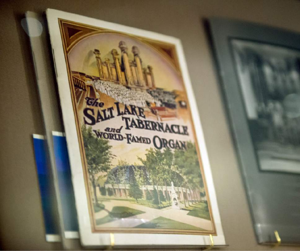 Jeremy Harmon  |  The Salt Lake Tribune  This concert program is part of The Church History Museum's new exhibit marking the 150th anniversary of the Tabernacle Organ.
