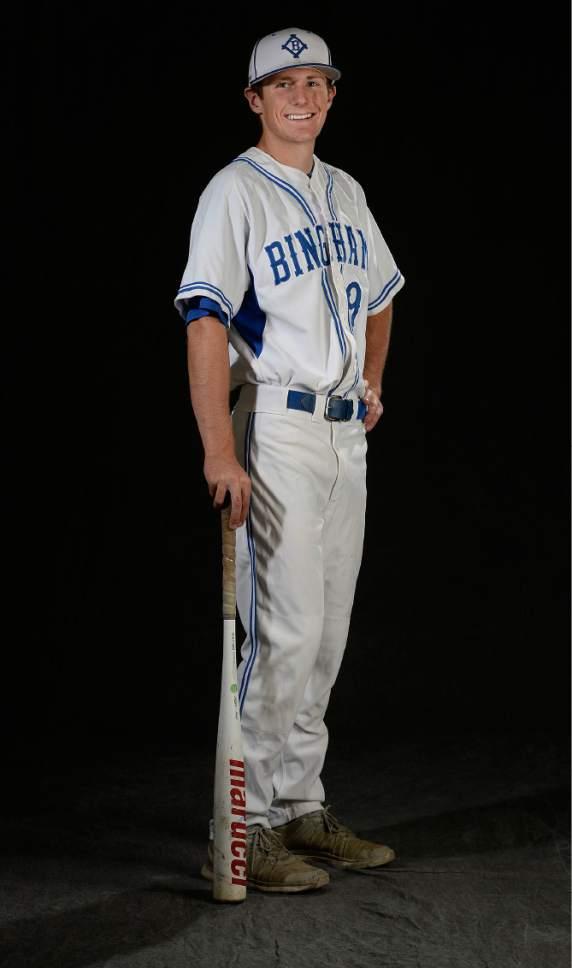 Scott Sommerdorf   The Salt Lake Tribune Tribune All-Star, Bingham 3rd baseman Tate Farnsworth, Wednesday, June 14, 2017.