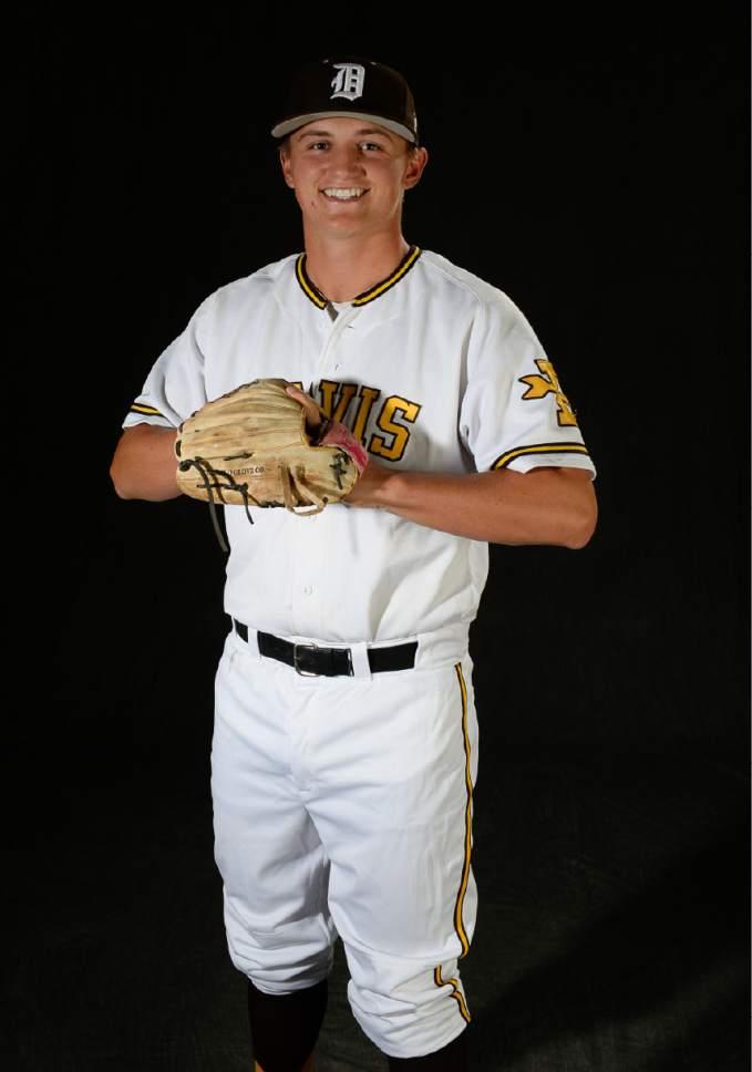 Francisco Kjolseth   The Salt Lake Tribune all Trib sports photos. Dom Fuller from Davis. Pitcher, 3rd base, catcher