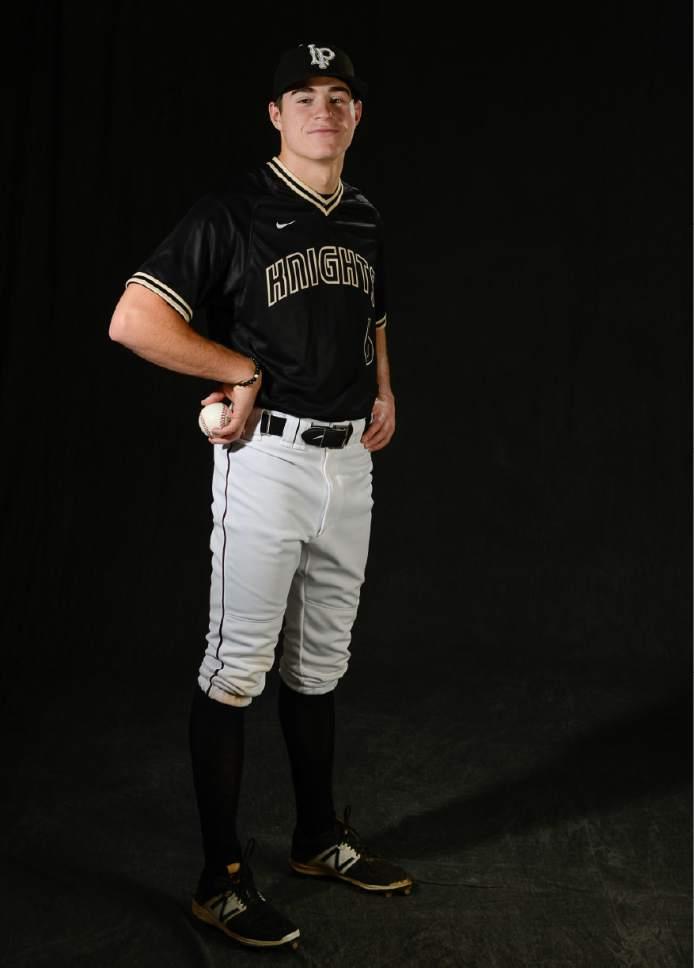 Francisco Kjolseth   The Salt Lake Tribune all Trib sports photos. Seth Corry from Lone Peak. Pitcher.
