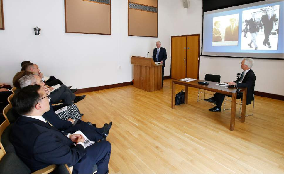 |  Courtesy LDS Church   Elder D. Todd Christofferson spoke to students, faculty and academics at the University of Oxford in England on Thursday, June 15, 2017, about his experiences as a law clerk during the Watergate trials more than 40 years ago.