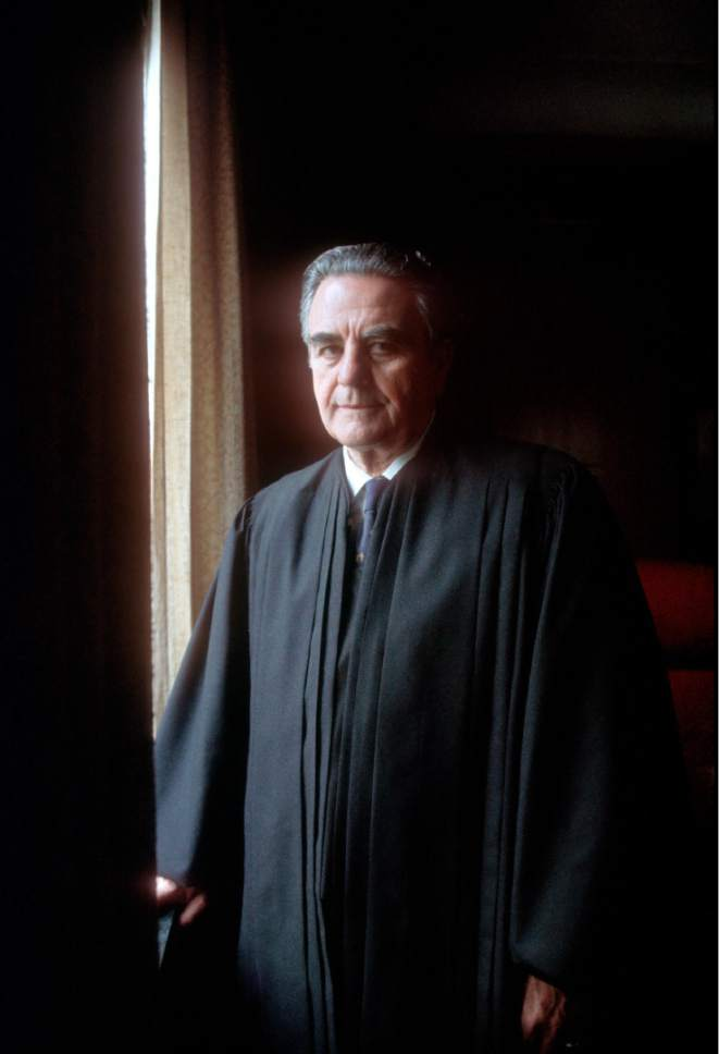 |  Courtesy LDS Church   Judge John Sirica of the United States District Court was the presiding judge in the Watergate trials in the early 1970s.