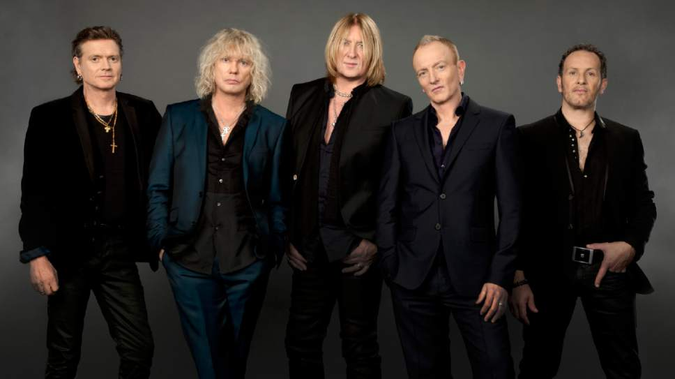 |  Courtesy Kazuyo Horie   British rock band Def Leppard (from left: drummer Rick Allen, guitarist Phil Collen, vocalist Joe Elliott, guitarist Vivian Campbell, bassist Rick Savage) visit USANA Amphitheatre in West Valley City on Monday, June 19, 2017. The 1980s icons have performed at USANA five previous times in recent years and sold out each show.