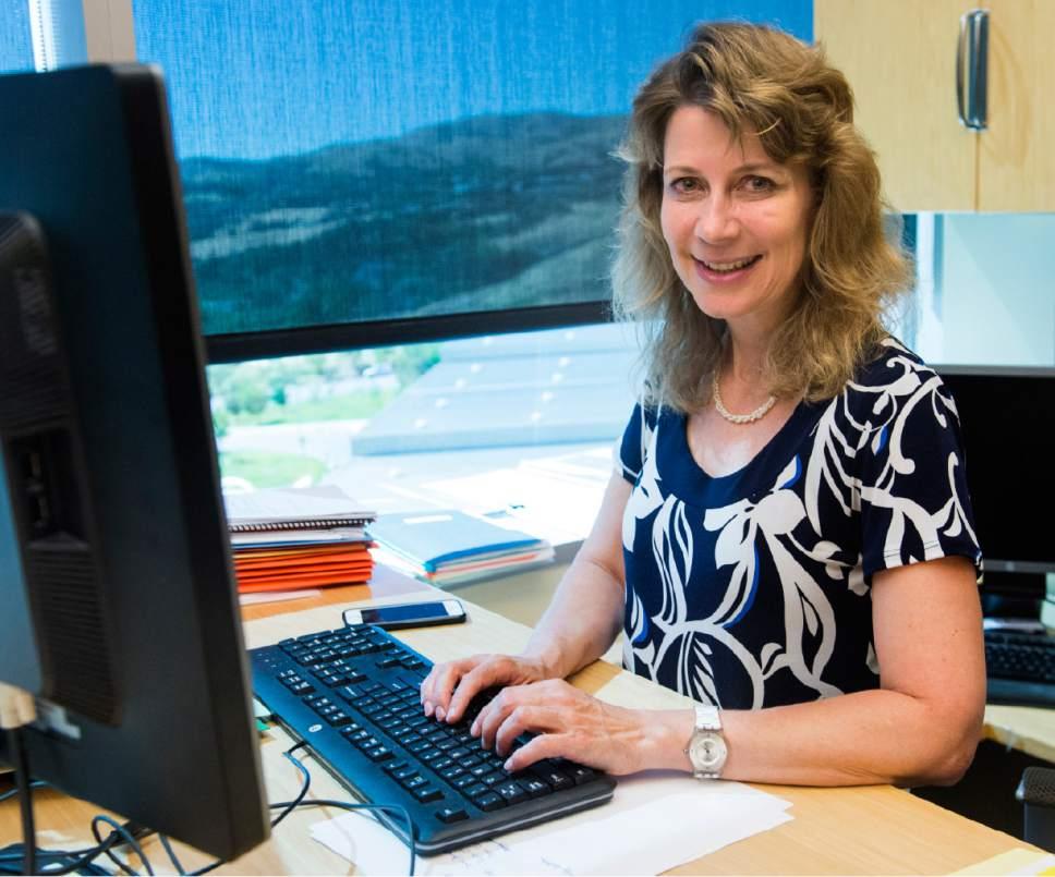 Rick Egan  |  The Salt Lake Tribune  Dr. Neli Ulrich at the Huntsman Cancer Institute, Monday, June 19, 2017.