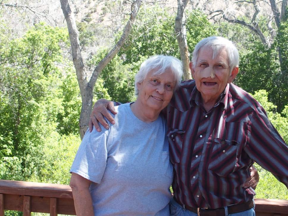 Christopher Smart |  The Salt Lake Tribune   Jane and Ken Sleight on the deck of their home at Park Creek Ranch outside Moab. Ken recently had surgery to remove cancerous skin cells from his nose, but his insights are as sharp as ever. The two are pictured in their Park Creek Ranch home, Saturday, June 10, 2017.