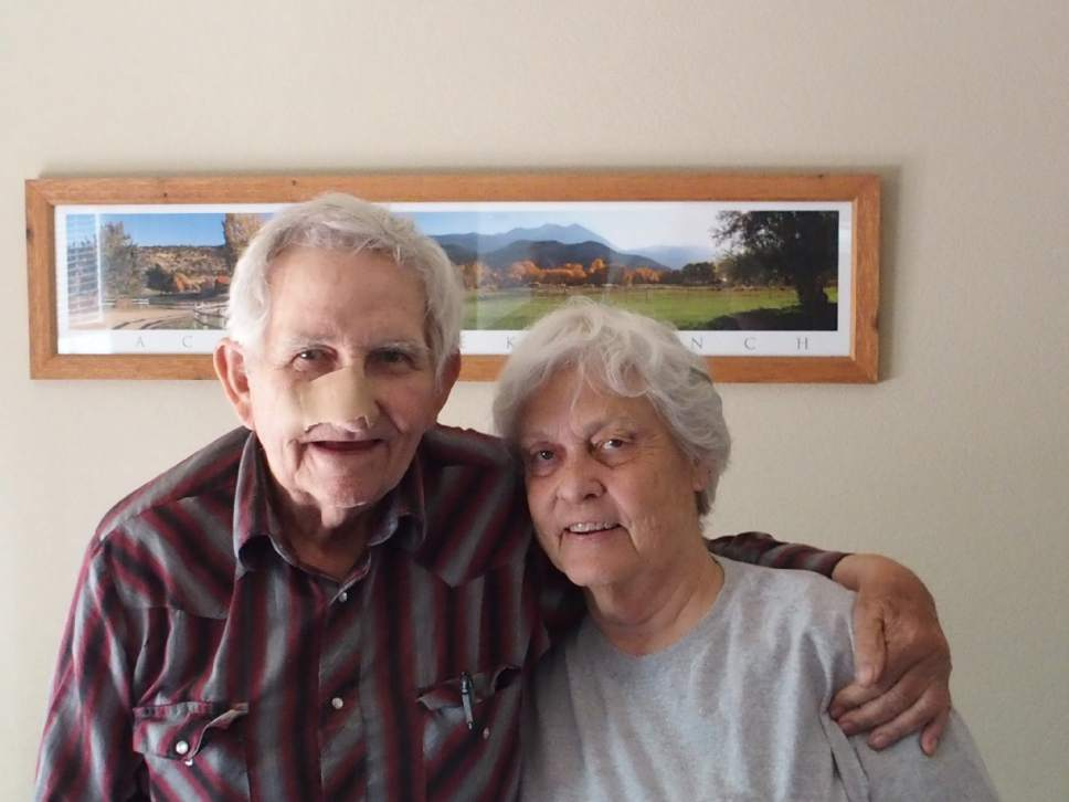 Christopher Smart |  The Salt Lake Tribune    Ken and Jane Sleight are planning to open a Glen Canyon installation at the John Wesley Powell River History Museum in Green River. Ken began running the Colorado River in the mid-1950s. The two are pictured in their Park Creek Ranch home, Saturday, June 10, 2017.