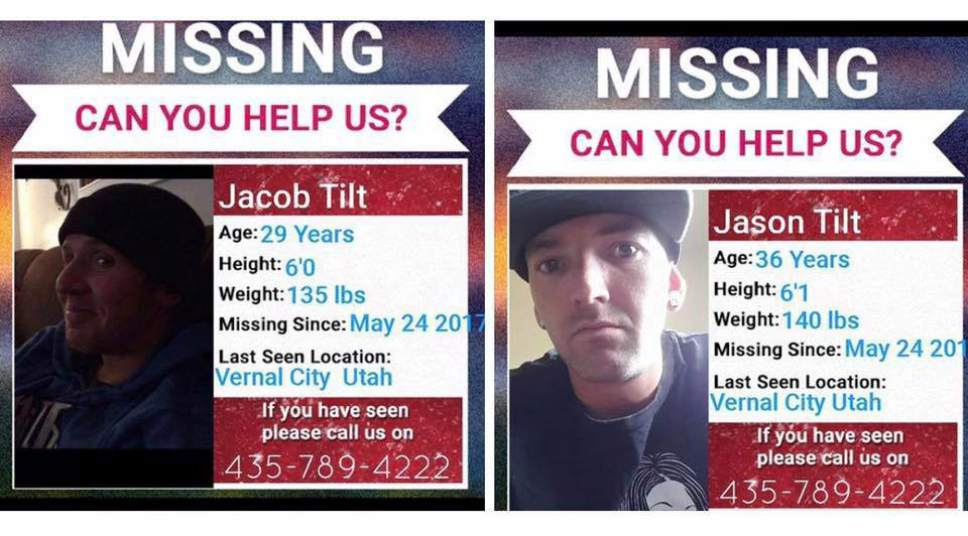 |  Courtesy   Police, as well as family and community members, have been searching for these Vernal men for about a month. On Wednesday, their bodies were pulled from the Green River.