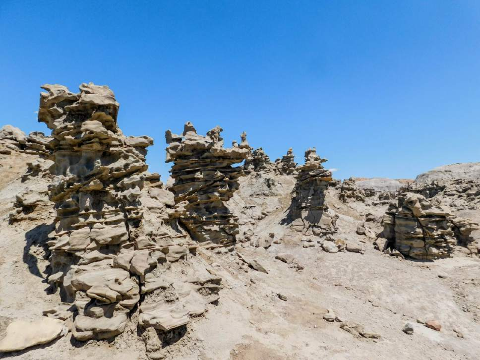 Erin Alberty  |  The Salt Lake Tribune   Sandstone rock formations line the trail into Fantasy Canyon near Vernal. Photo taken May 28, 2017.