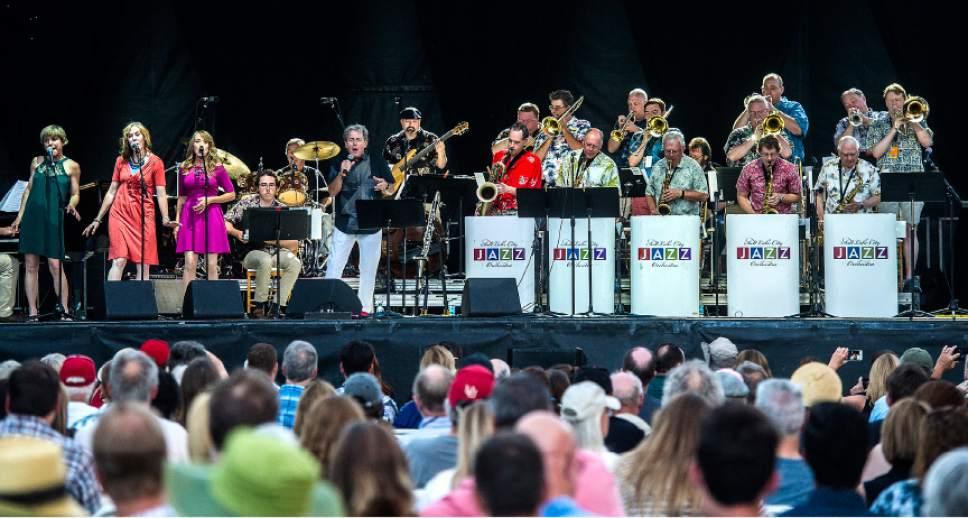 Chris Detrick     The Salt Lake Tribune Members of the Salt Lake City Jazz Orchestra perform at the Utah Arts Festival Friday, June 23, 2017.
