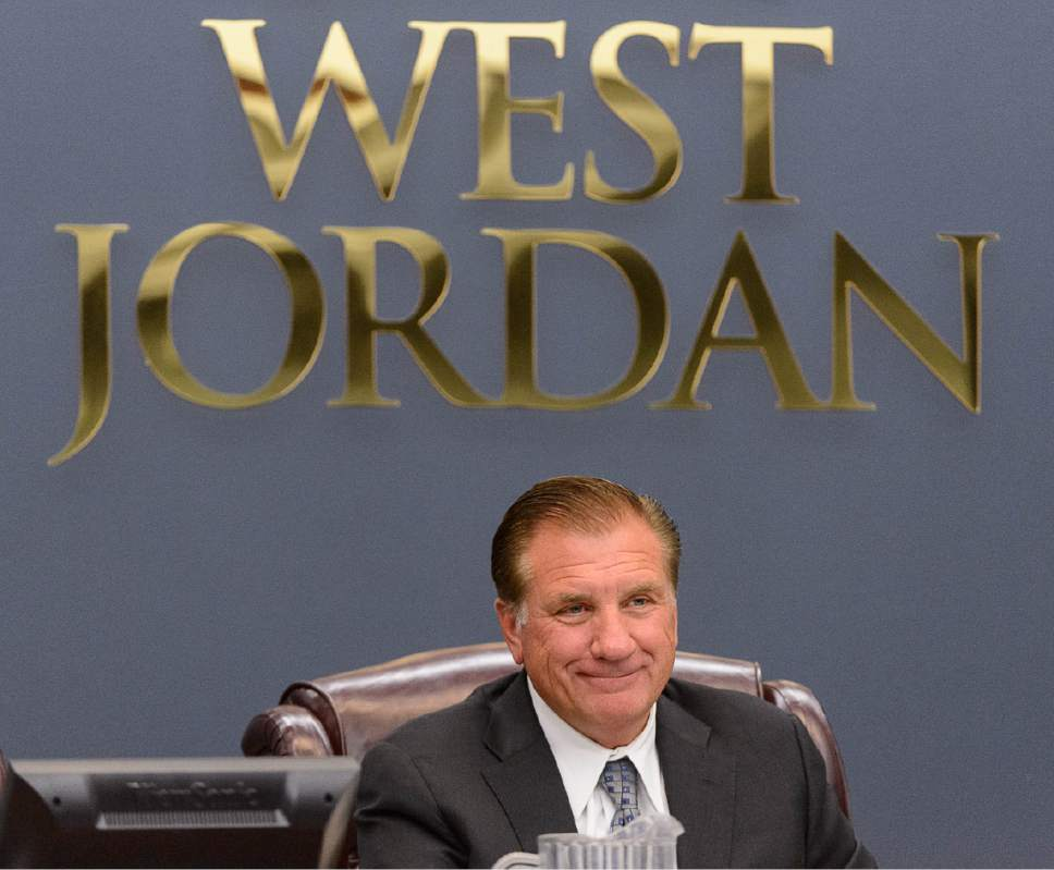 Trent Nelson  |  Tribune file photo West Jordan Mayor Kim Rolfe at a city council meeting. West Jordan has the second-largest number of closed meetings of any city in Salt Lake County, behind only Draper.