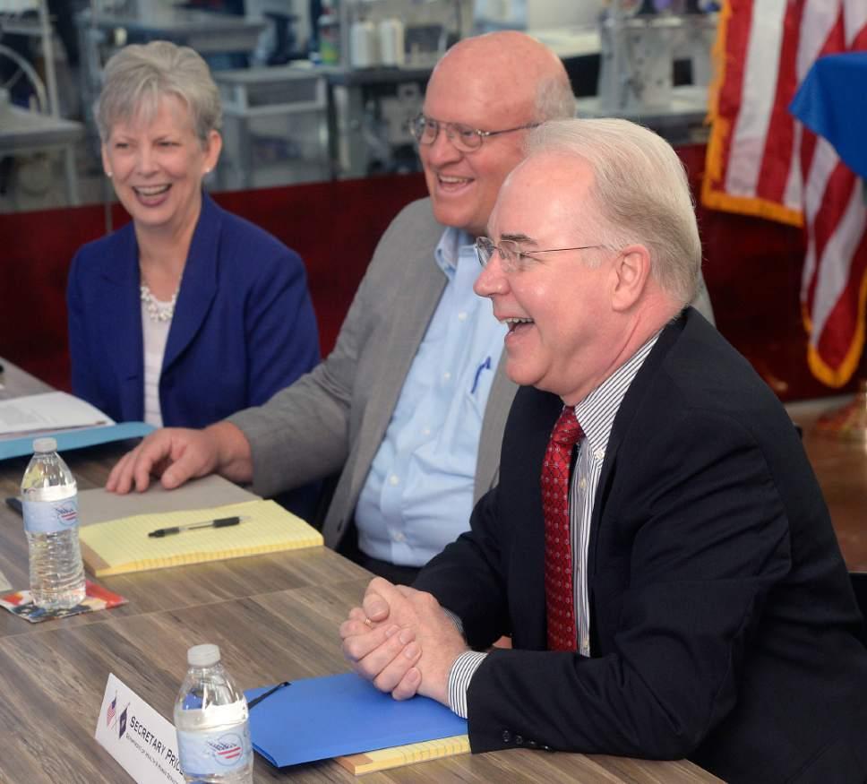 U.S. secretary of health uses Utah flag factory as ...
