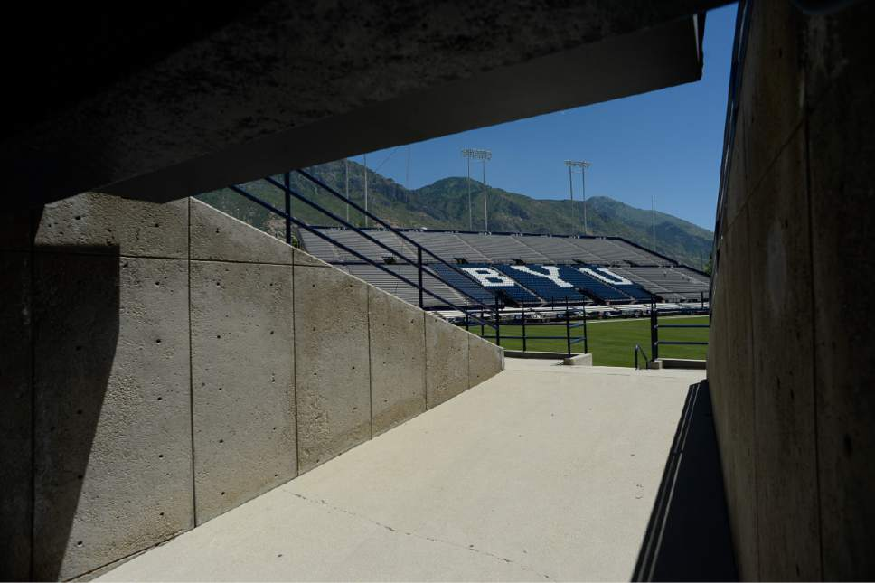 Francisco Kjolseth | The Salt Lake Tribune LaVell Edwards stadium will be celebrating its  35th anniversary this season since it was renovated in 1982.