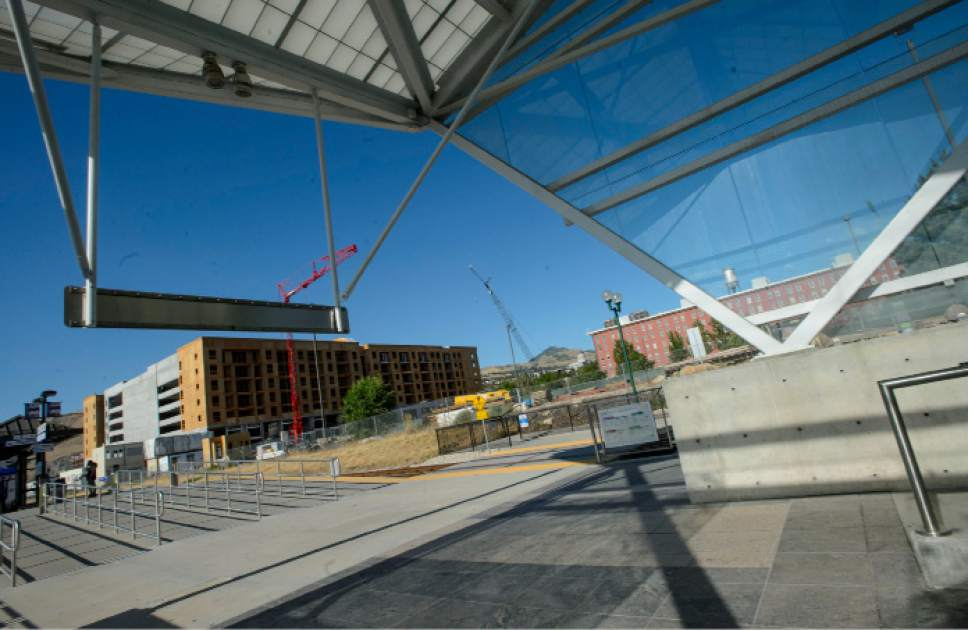 Steve Griffin  |  The Salt Lake Tribune    SALT Development has begun construction of Hardware District, a $275 million mixed-use development, pictured here, that will include 466 luxury multifamily units and 260,000 SF of office space.  This comes concurrently of them completing construction of the adjacent $100 million 4th West Apartments in Salt Lake City Wednesday June 28, 2017.