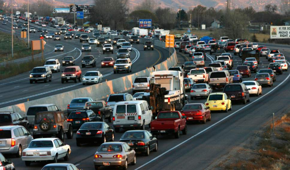 Rick Egan  |  Tribune file photo   Rush hour traffic on I-15 near Lehi, November 21, 2007.