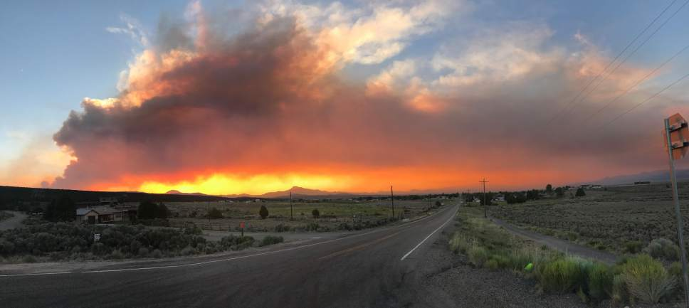 Courtesy of the Bureau of Land Management Wind-fanned flames scorched more than 3,000 more acres overnight, bringing southern Utah's Brian Head Fire to 53,299 acres by dawn Wednesday.