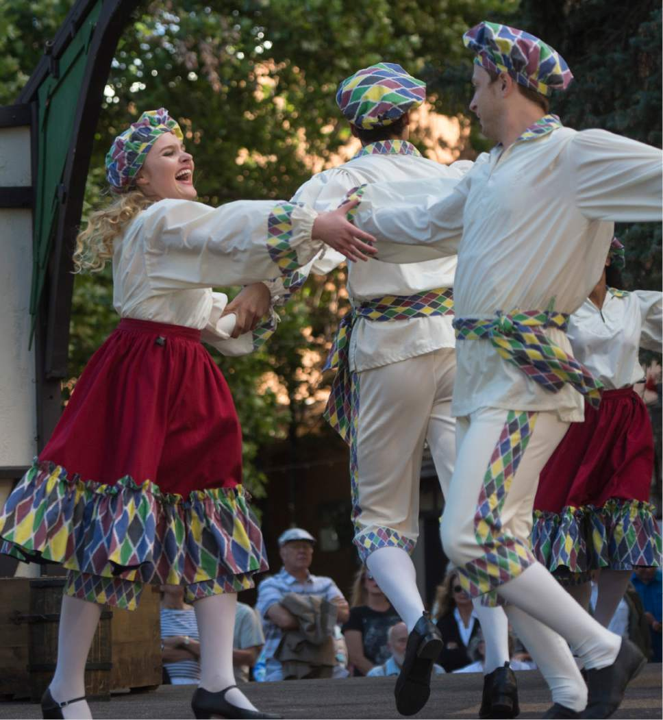 Rick Egan     The Salt Lake Tribune  The Green Show at Utah Shakespeare Festival. Thursday, July 9, 2015.