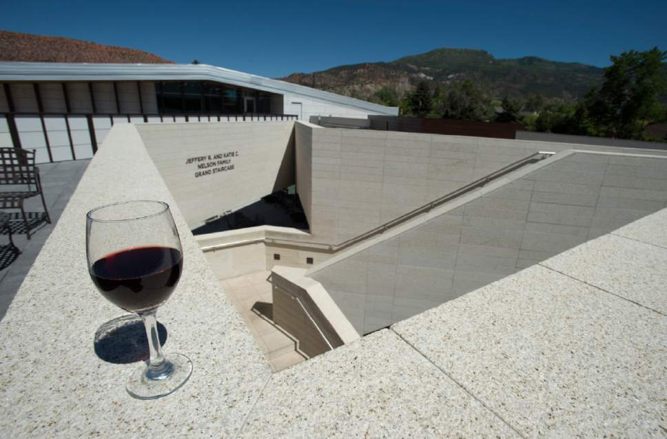Rick Egan     The Salt Lake Tribune Patrons of the Utah Shakespeare Festival will be able to buy wine before shows and at intermission at the new Engelstand Theatre in Cedar City.