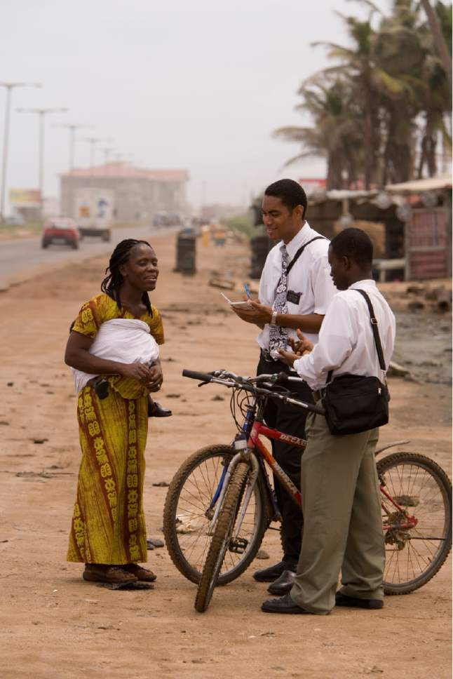 |  Courtesy LDS Church  LDS missionaries in Africa
