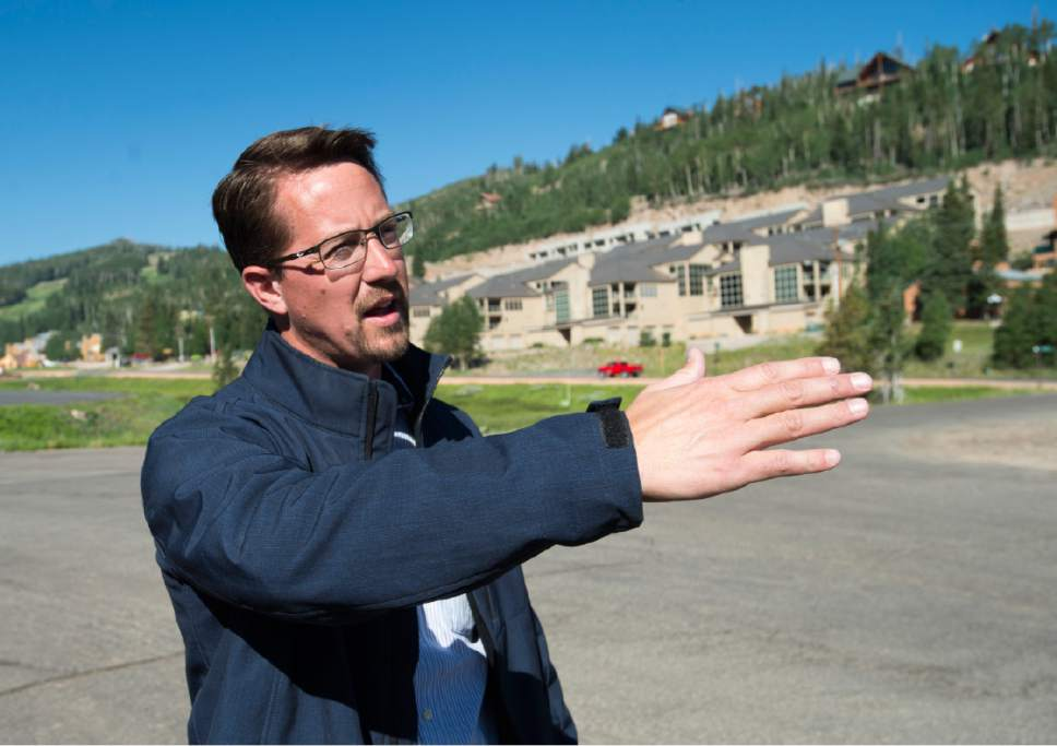 Rick Egan  |  The Salt Lake Tribune  Bret Howser, town manager of the southern Utah ski town of Brian Head, is grateful the town is in good shape after the fire scare. Friday, June 30, 2017.