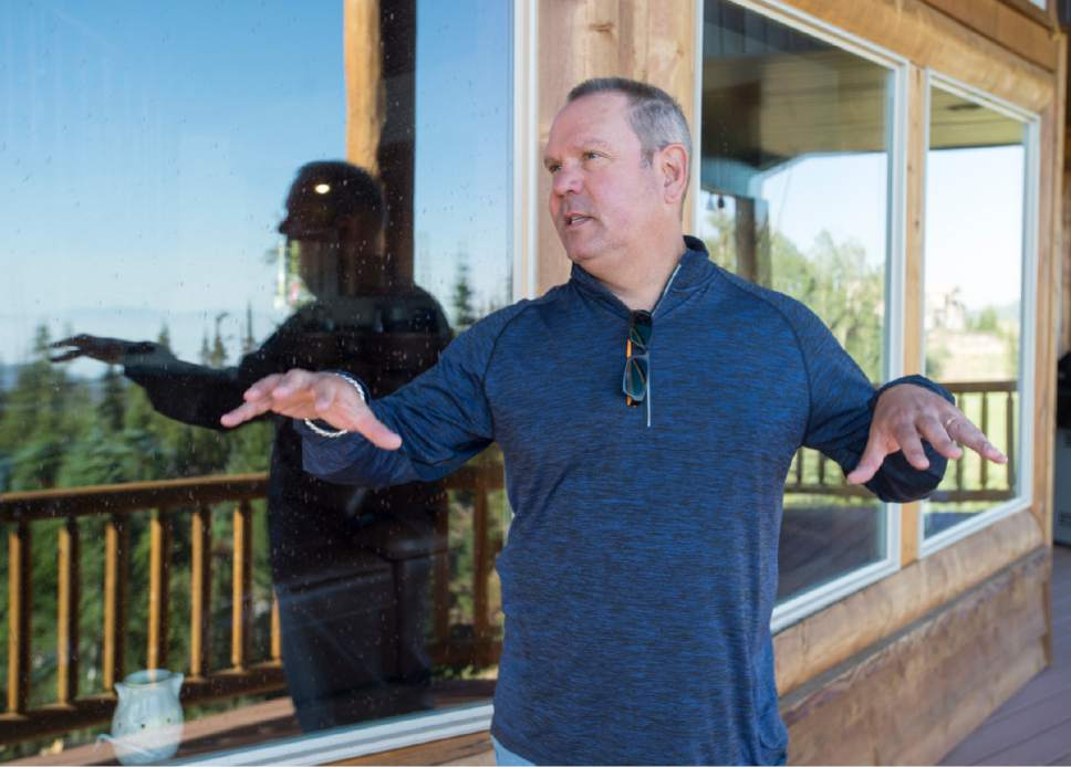 Rick Egan  |  The Salt Lake Tribune   Brad Burdsall talks about the fire that nearly reached his cabin in the southern Utah ski town of Brian Head. He was finally able to get back into town after the evacuation was lifted on Friday, June 30, 2017.