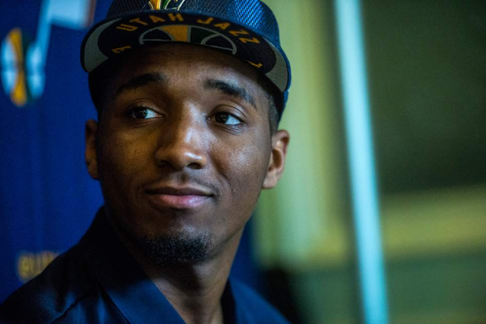Jazz draft pick Donovan Mitchell stays grounded off the court, flies high on it - The Salt Lake ...