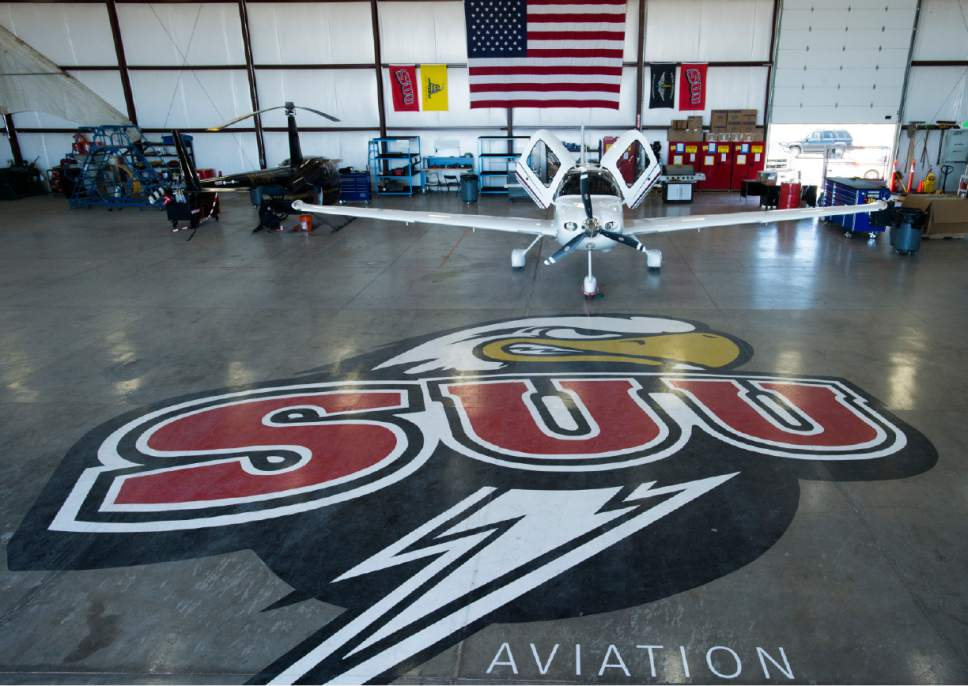 Rick Egan  |  The Salt Lake Tribune  SR 20 Cirrus plane used in the Southern Utah University Flight School, Wednesday, June 14, 2017.