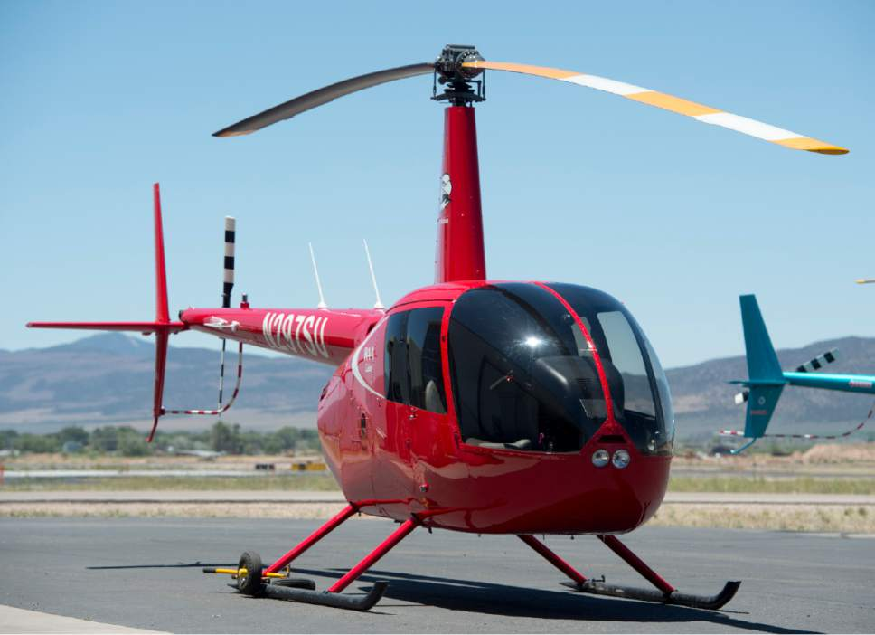 Rick Egan  |  The Salt Lake Tribune  A new R44 Cadet helicopter, used in the Southern Utah University Flight School. Wednesday, June 14, 2017.